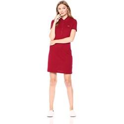 Lacoste Womens Short Sleeve Pique Polo Dress