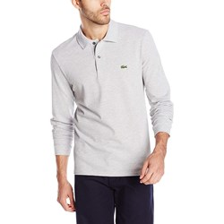 Lacoste Mens Long Sleeve Classic Chine Pique Polo