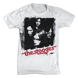 Iggy Pop - Mens Stooges Group Shot T-Shirt