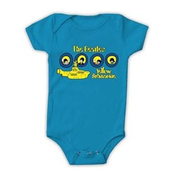 The Beatles - Unisex-Baby Yellow Sub Porthole Premium Onesie