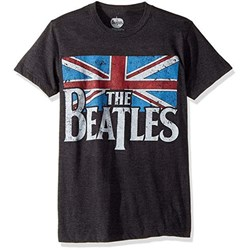 The Beatles - Mens Distressed British Flag T-shirt