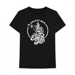 Elton John - Mens Rocket Man Circle T-Shirt
