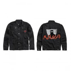 N.W.A. - Unisex-Adult Spray Paint Denim Jacket