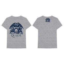 Queen - Mens Heather Crest T-Shirt