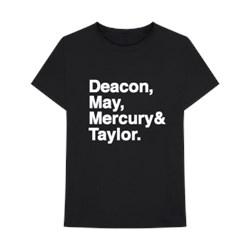 Queen - Mens Helvetica Band T-Shirt