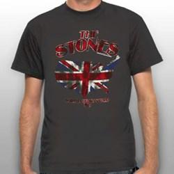 Rolling Stones - Mens Union Jack U.S. Map 81 T-Shirt