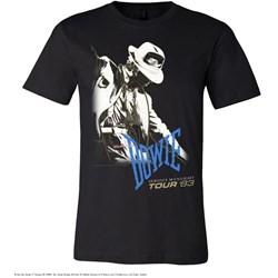 David Bowie - Mens Serious Moonlight Tour 83 T-Shirt
