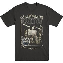 Led Zeppelin - Mens 1969 Band Promo Photo T-Shirt