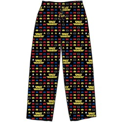 Space Invaders - Mens Tonal Logo Pop Stack Sleep Pants