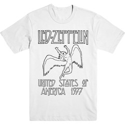 Led Zeppelin - Mens Usa 77 T-Shirt