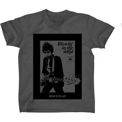 Bob Dylan - Mens Guitar Photo T-Shirt
