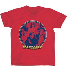 Iggy Pop - Mens Iggy – The Stooges Image (on red) T-shirt