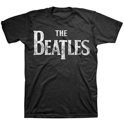 The Beatles - Mens Distressed Vintage Logo T-shirt