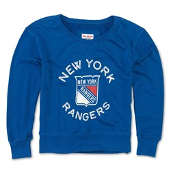 New York Rangers - Womens Adeline Wide Neck Long Sleeve T-Shirt