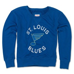 St. Louis Blues - Womens Adeline Wide Neck Long Sleeve T-Shirt