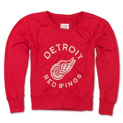 Detroit Red Wings - Womens Adeline Wide Neck Long Sleeve T-Shirt