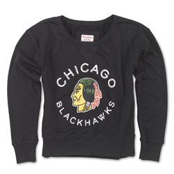 Chicago Blackhawks - Womens Adeline Wide Neck Long Sleeve T-Shirt