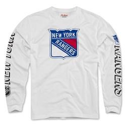 New York Rangers - Mens Maverick Tee Long Sleeve T-Shirt