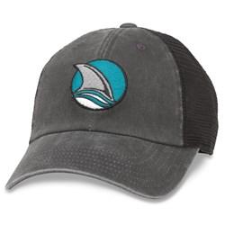 San Jose Sharks - Mens Raglan Bones Snapback Hat