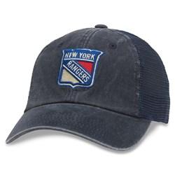 New York Rangers - Mens Raglan Bones Snapback Hat