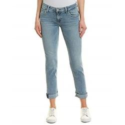 Hudson - Womens Bacara Crop Straight Cuffed Jeans