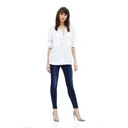 Hudson - Womens Barbara High Waist Super Skinny Ankle Jeans