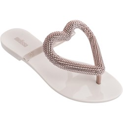 Melissa - Womens Big Heart Chrome Ad Sandal