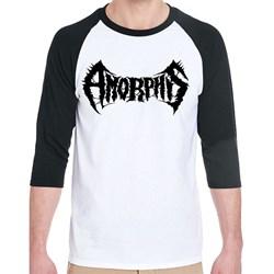 Amorphis - Unisex-Adult Logo Black & White Raglan