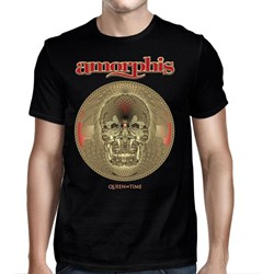 Amorphis - Mens Queen Of Time Date Back Black T-Shirt