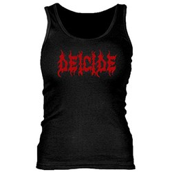 Deicide - Womens Red Logo/ Ribbed Tank Top