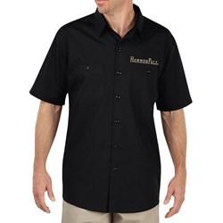 Hammer Fall - Mens Hammer Shield Black Work Shirt