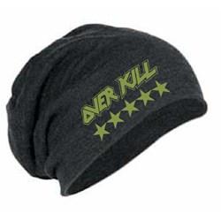 Overkill - Unisex-Adult Emb. Logo Stars Slouch Beanie