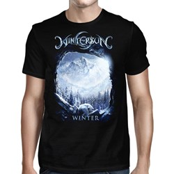 Wintersun - Mens Winter Washed Away Black T-Shirt