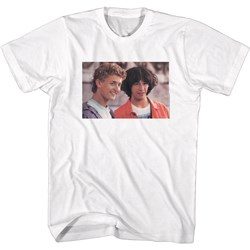 Bill And Ted - Mens Excellent Heads, No Words T-Shirt
