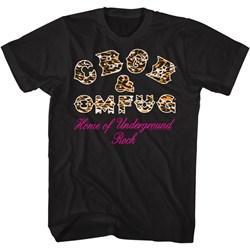 Cbgb - Mens Leopard Logo T-Shirt