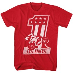 Evel Knievel - Mens Red One T-Shirt