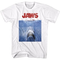 Jaws - Mens Poster Blue T-Shirt