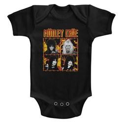 Motley Crue - Unisex-Baby Fire And Wire Onesie