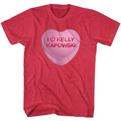 Saved By The Bell - Mens Kelly Candy Heart T-Shirt