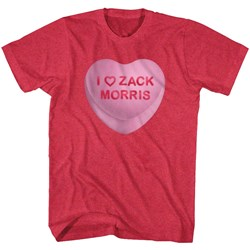 Saved By The Bell - Mens Zack Candy Heart T-Shirt
