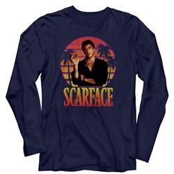 Scarface - Mens Miami Sunset Long Sleeve T-Shirt