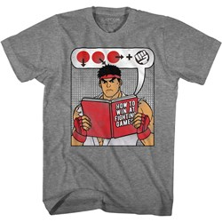 Street Fighter - Mens How To Win Book T-Shirt