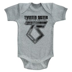 Twisted Sister - Unisex-Baby Can'T Stop Rock'N'Roll Onesie