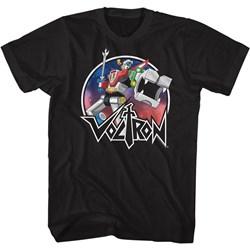 Voltron - Mens Circle Robot Sketch T-Shirt