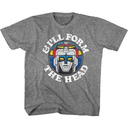 Voltron - Unisex-Child Form The Head T-Shirt