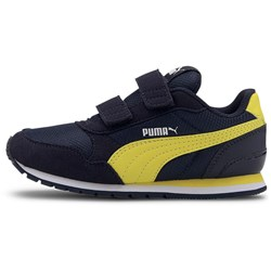PUMA - Unisex-Baby St Runner V2 Mesh Shoes with Fastener Strap