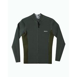 RVCA - Mens Front Zip Neoprene Long Sleeve T-Shirt