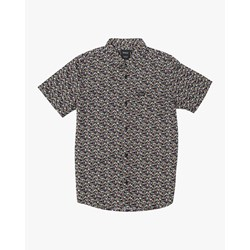 Rvca - Boys Bellflower Short Sleeve Woven Shirt