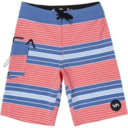 Rvca - Boys Uncivil Stripe Trunk Boardshorts