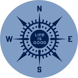 Life Is Good - Compass Magnets